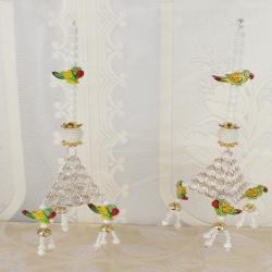 Crystal and Perrot Design Diwali Door Hanging for Dombivli