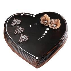 Dark Chocolate Heart Shape Cake for Delhi