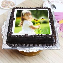 Dark Chocolate Personalized Cake for Dombivli
