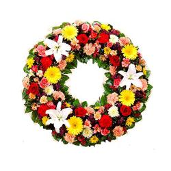 Decorative Colorful Flowers Wreath for Manipal