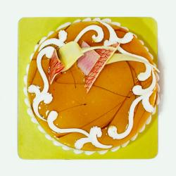 Delicious One Kg Butterscotch Flavor Fresh Cream Cake for Lucknow