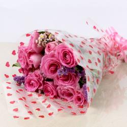 Delight Pink Roses for Gurgaon