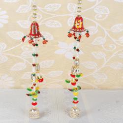 Diwali Colorful Gonda Pearl String Long Door Hanging for Belgaum