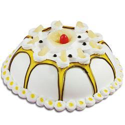 Dom Shape Pineapple Cake for Thanjavur