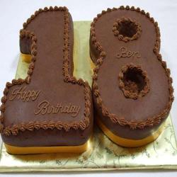 Double Number Shaped Cake for Chennai
