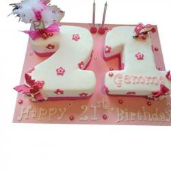 Double Number Shaped Eggless Cake for Gurgaon