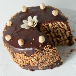 Dressed Hazelnut Latte Chocolate Cake for Rajahmundry