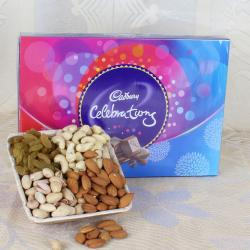 Dry fruits with Celebration Chocolate Pack for Bhopal