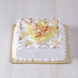 Eggless Butter Cream Pineapple Cake for Ghaziabad