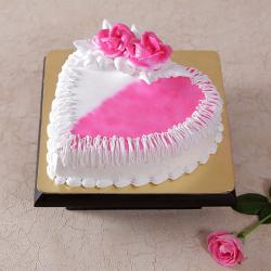 Eggless Butter Cream Strawberry Cake for Ghaziabad