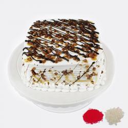 Eggless Butterscotch Cake For Bhaidooj for Baroda