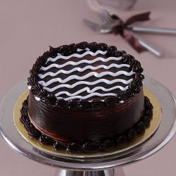 Eggless Dark One Kg Chocolate Cake for Kapurthala