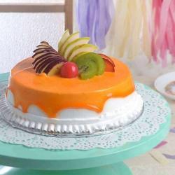 Eggless Fresh Fruit Cake for My Love for Baroda