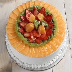 Eggless Fresh Fruit Cake for Delhi