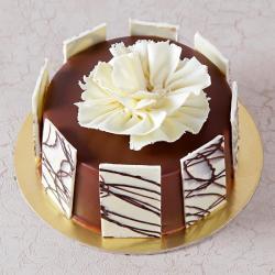 Eggless Half Kg Stylish Chocolate Cake for Ahmedabad