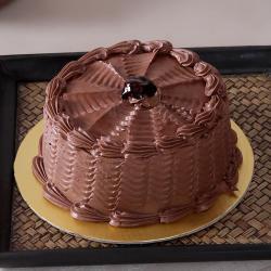 Eggless One Kg Fresh Cream Sugar Free Chocolate Cake for Ghaziabad