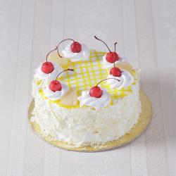 Eggless Pineapple Fresh Cream Cake for Delhi