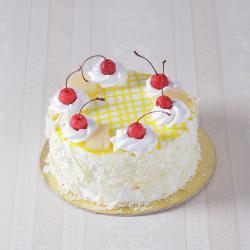 Eggless Pineapple Fresh Cream Cake for Ahmedabad