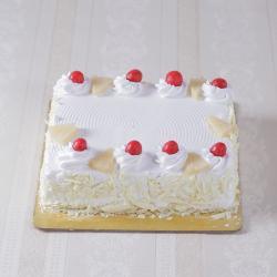 Eggless Square Shape Pineapple Cake for Jaipur