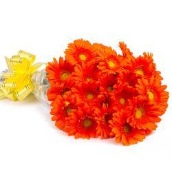 Eighteen Orange Gerberas Bunch for Indore