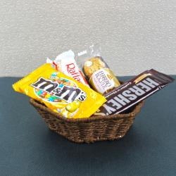 Exclusive Chocolate Cane Basket for Moradabad
