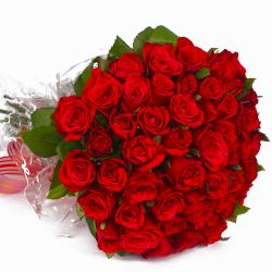 Exclusive Love 50 Red Roses Bouquet for Jalandhar