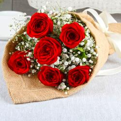 Exclusive Romantic Red Roses Bouquet for Siliguri