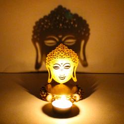 Exclusive Shadow Diya Tealight Candle Holder of Removable Buddha for Indore