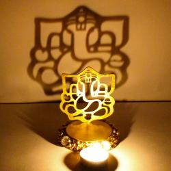 Exclusive Shadow Diya Tealight Candle Holder of Removable Ganesha Idol for Indore