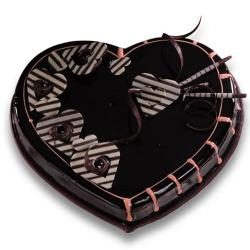 Exotic Heart Shape Chocolate Cake for Hyderabad