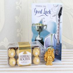 Ferrero Rocher Box, Laughing Buddha with Good Luck Card for Manipal