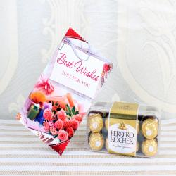 Ferrero Rocher Box with Best Wishes Card for Ghaziabad