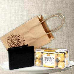 Ferrero Rocher Chocolate with Mens Wallet for Jaipur