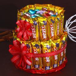 Five Star Chocolates Bar Cake for Chennai