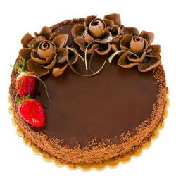Floral Chocolate Cake for Chandigarh