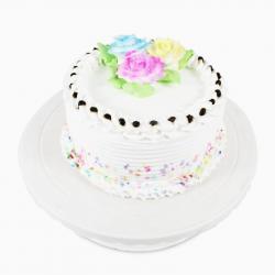 Floral Round Vanilla Cake for Bankura