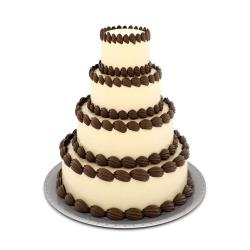 Four Tier Coffee Chocolate Cake for Delhi