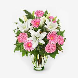 Fresh Flowers In Glass Vase for Baroda