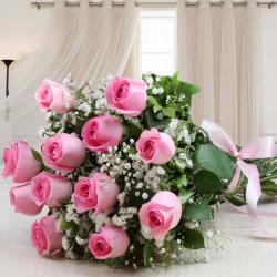 Fresh Pink Roses Beautiful Bouquet for Rajahmundry