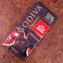 Godiva Chocolatier Blood Orange 50% Cacao Dark Chocolate for Hyderabad