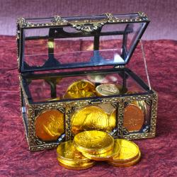 Gold Coin Chocolates Treasure Box for Chandigarh