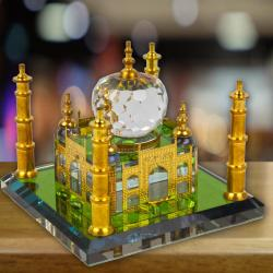 Gold Plated Crystal Taj Majal for Coimbatore