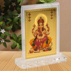 Gold Plated Ganesh Frame for Gurgaon