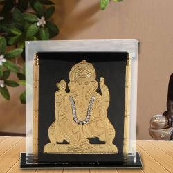 Gold Plated Ganesha Cabinet Stand for Mumbai