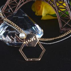 Gold Plated Love Pendant for Valentines Day Gift for Pune