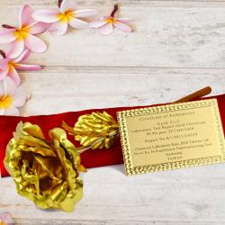 Gold Plated Rose with Gift Box for Hyderabad