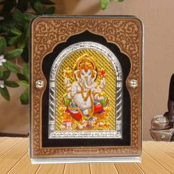 Gold with Silver Plated Acrylic Ganesh Frame for Moradabad