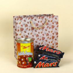Gulab Jamun Tin with Mars Chocolates for Delhi