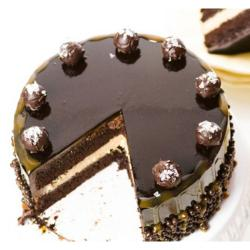 Half Kg Designer Dark Chocolate Cake for Gurgaon