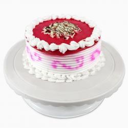 Half Kg Round Strawberry Cake for Alappuzha